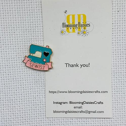 Sewist Needle Minder for Cross Stitch, Spring Magnet