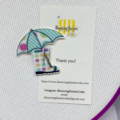 Galoshes / Rainboots / Umbrella / Spring Needle Minder