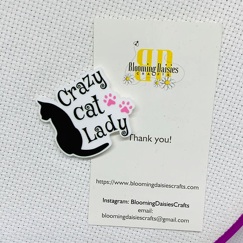 Crazy Cat Lady Needle Minder Magnet