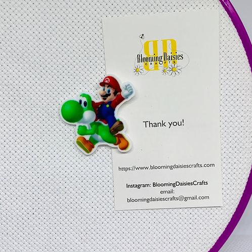 Mario and Yoshi - Nintendo Mario Needle Minder