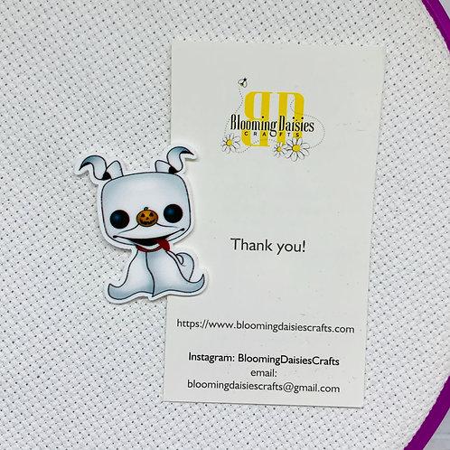 Adorable Ghost Dog Halloween Needle Minder / Holder / Magnet