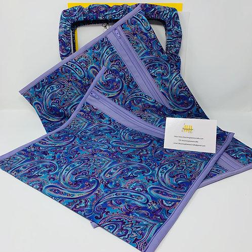 Purple Paisley Project Bag