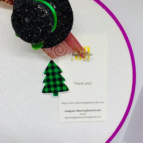 Christmas Tree w/Buffalo Print Needle Minder / Holder / Magnet