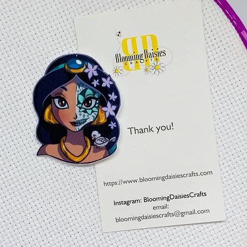 Jasmine - Day of the Dead from Aladdin Needle Minder