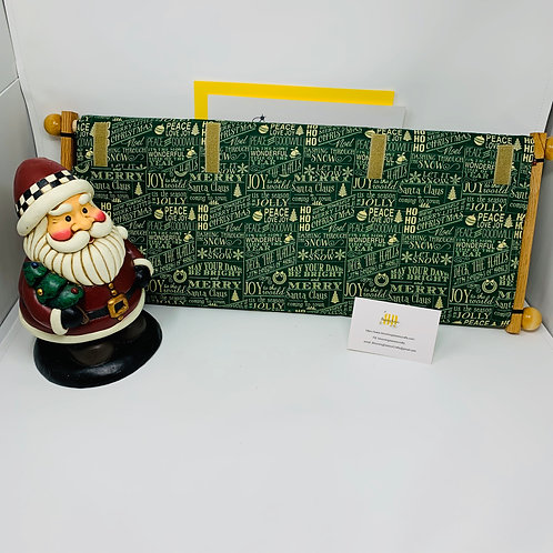 Green Christmas Dust Cover