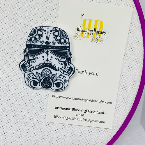 Storm Trooper in Day of the Dead from Star Wars Needle Minder