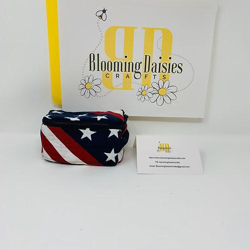 American Flag Smart Phone Cord Organizer/Travel Bag