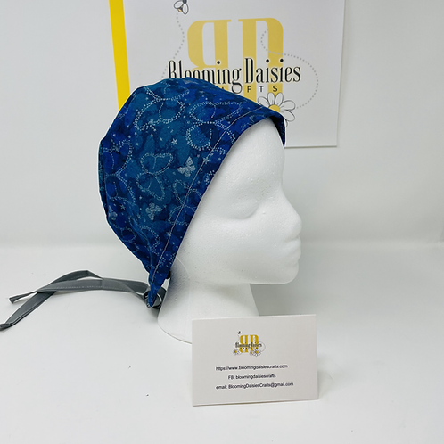 Blue Butterfly Surgical cap w/o Buttons