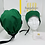 Unisex Green with buttons Nurse Surgical Cap Hat
