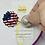 Magnetic Patriotic Cross Stitch Accessory