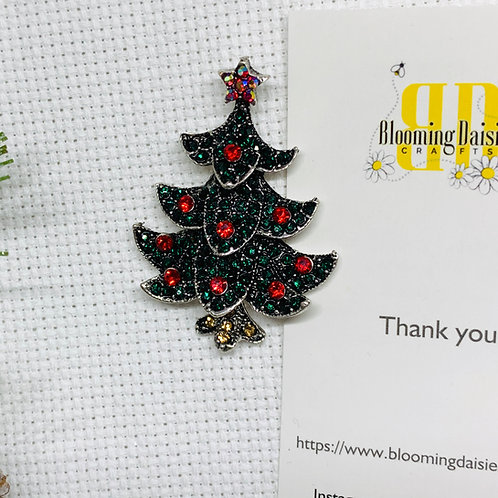 Rhinestone Christmas Tree Needle Minder