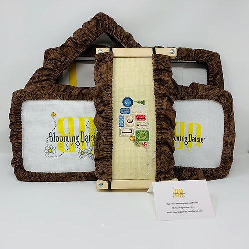 Brown Vine Q-Snap, Scroll, Hoop Cross Stitch Grime Guard