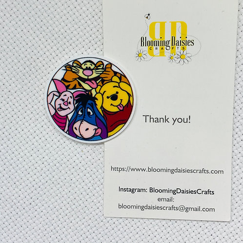 Winnie and Friends Needle Minder Magnetic for Cross Stitch, Needlecraft