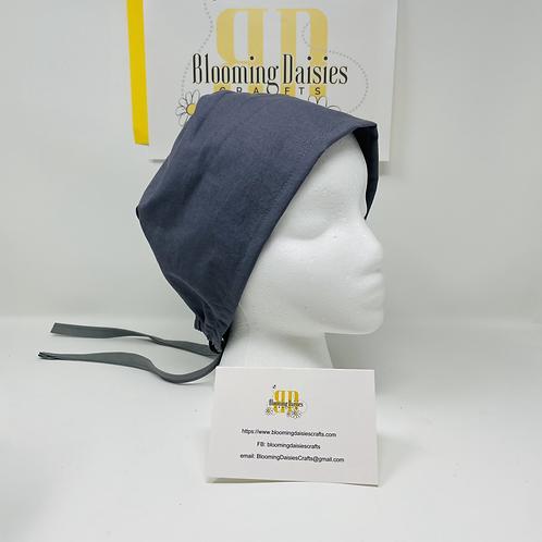 Plain Gray Unisex Surgical Nurse Cap Hat