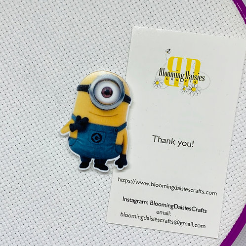 Minions Resin Needle Minder for Cross Stitch, Needlepoint Magnet, Needl