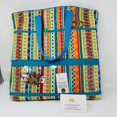 Large Project Bag for Cross Stitch, Zippered, Cross Stitch Organizer, Knittin..
