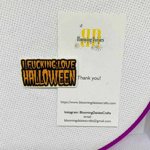 F...ing Love Halloween Needle Minder / Holder / Magnet