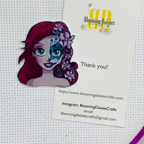 Arielle from Little Mermaid - Day of the Dead Needle Minder