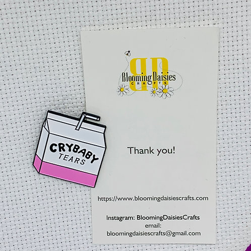 Crybaby Tears Needle Minder for Cross Stitch, Spring Magnet