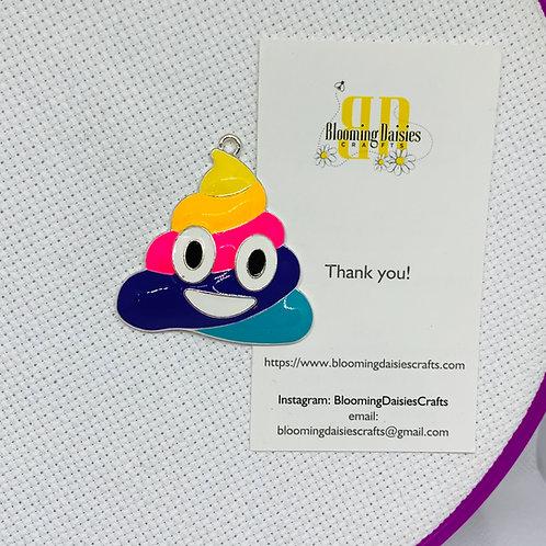 Rainbow Poop Emoji Needle Minder