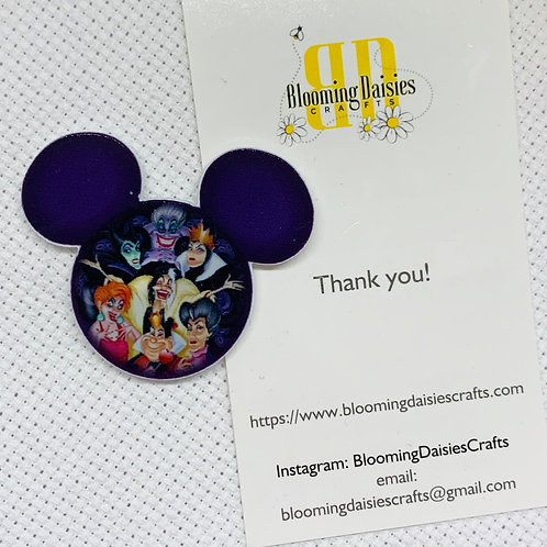 Villainesses in Mouse Ears Needle Minder - Refrigerator Magnet