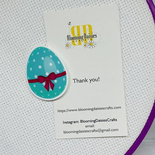 Aqua Easter Egg Magnet