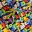 Thumbnail: Bright Rainbow Dog Pattern Grime Guard Needlepoint Qsnap, Protec