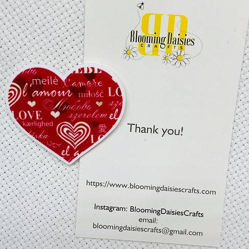 Love / Valentines Day Needle Minder / Holder / Magnet