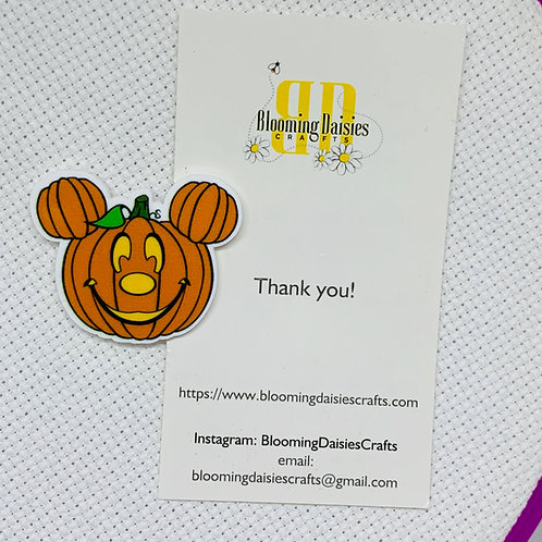 Jack-o-Lantern Halloween Needle Minder / Holder / Magnet