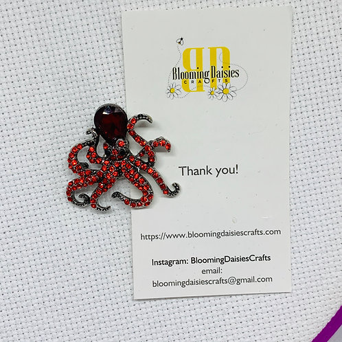 Red Octopus Needle Minder