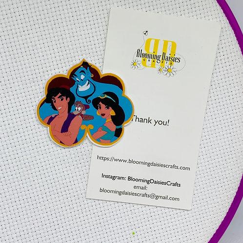 Jasmine, Aladdin and Genie from Aladdin Needle Minder