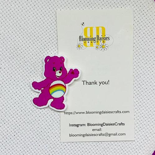 Pink Care Bear Needle Minder