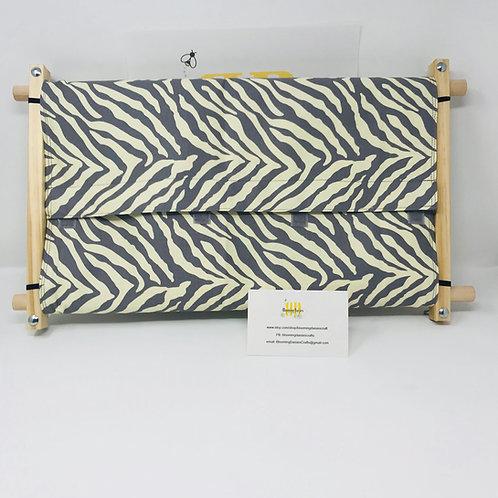Gray Zebra Dust Cover
