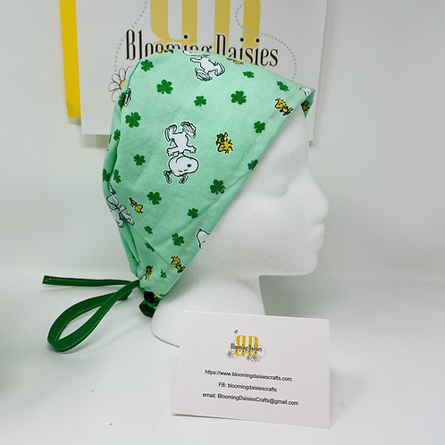 Charlie Brown St. Patrick's Day Healthcare Surgical Cap/Bo