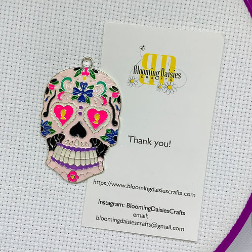 Day of the Dead Skull Needle Minder