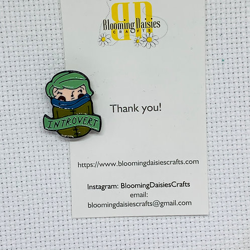 Introvert Needle Minder for Cross Stitch, Spring Magnet