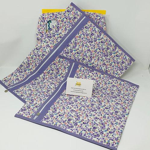 Lilac Flower Cross Stitch Bag