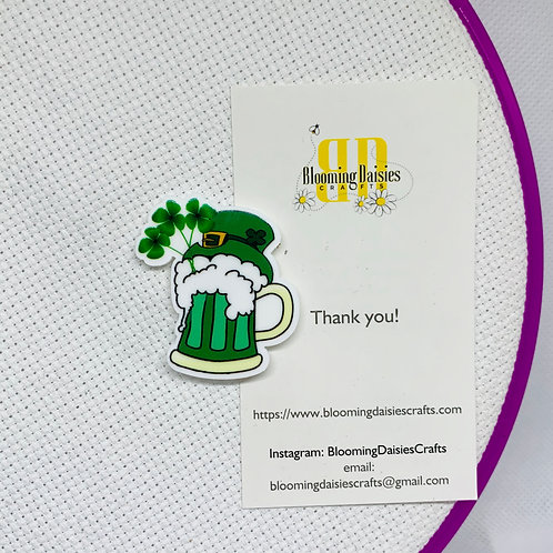 St. Patrick Day Green Beer Needle Minder
