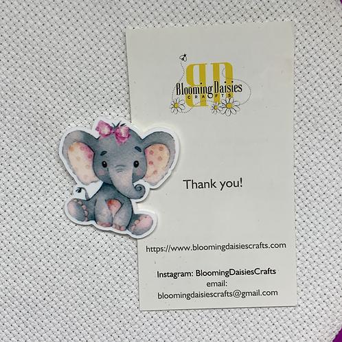 Cute Girl Elephant Needle Minder