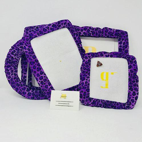 Purple Leopard Grime Guard for Needlepoint, Qsnap/Hoop/Scroll Frame, Grime Shi..
