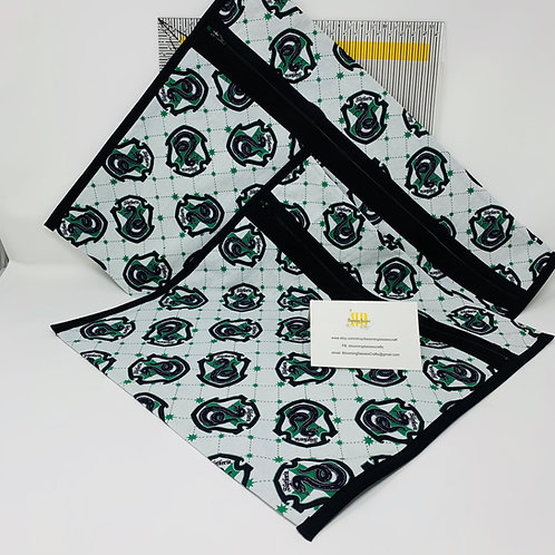 Q-Snap Project Bags - Slytherin - HP 11x11 or 11x17 / Cross stitch Travel Bag