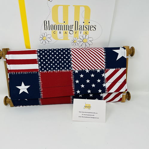 American Flag Dust Cover for Cross Stitch Project