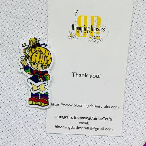 Waving Rainbow Brite Needle Minder / Holder / Magnet