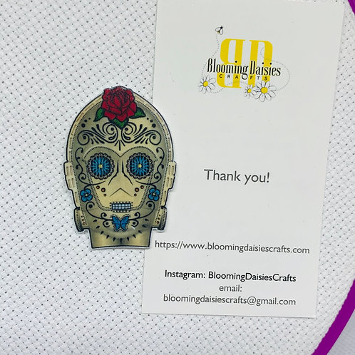 C3P0 in Day of the Dead from Star Wars Needle Minder