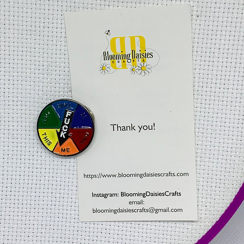 Nasty Word, F* Needle Minder for Cross Stitch, Spring Magnet