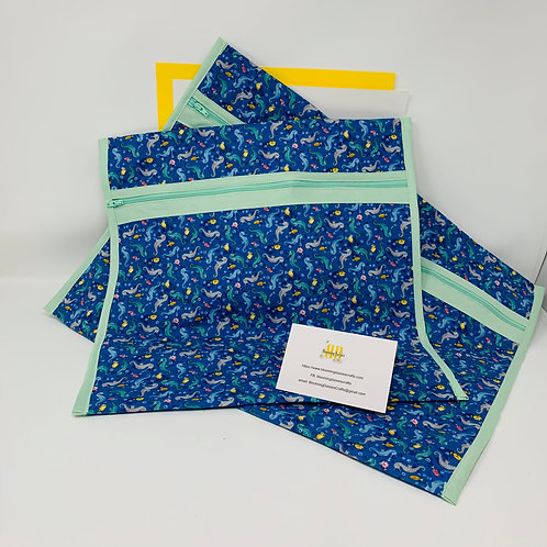 Q-Snap Project Bags - Seahorse Pattern 11x11 or 11x17 / Cross stitch T