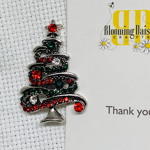 Modern Rhinestone Christmas Tree Needle Minder