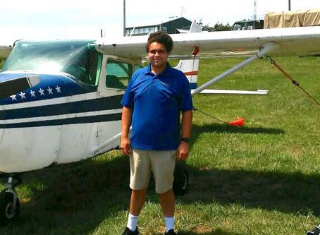 Julian Thomas, PP, Takes To The Skies!