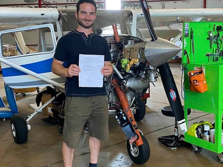 Jeremy George, skydiver, and now, PILOT!