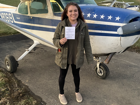 Check it out! Claudia Bruce, Private Pilot!